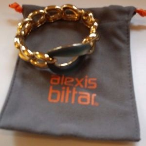 ALEXIS BITTAR Blue Teal HINGED BRACELET NEW